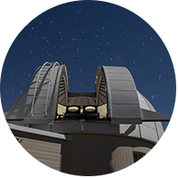 Two PANOSETI telescopes installed in the recently renovated Astrograph Dome at Lick Observatory.