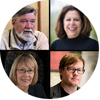 Left to right, top: Paul Churchland and Vicki Grassian; bottom: Margaret Leinen and David Victor. Photos courtesy of UC San Diego