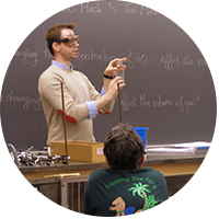 Bussey conducting a lab workshop on campus. Photo courtesy of Thomas Bussey, Department of Chemistry and Biochemistry