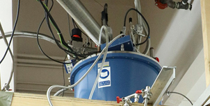 Optical dilution refrigerator for low-temperature experiments at UC San Diego. Photo by Michelle Fredricks